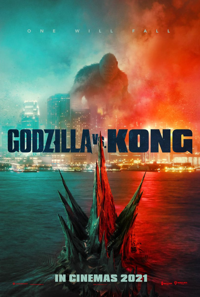 Poster of #GodzillaVsKong. Trailer Drops This #Sunday. Theaters & #HBOMax Release in 2021. . . .  #WarnerBros @wbpictures #GodzillavKong #Godzilla #kongvsgodzilla #Kong