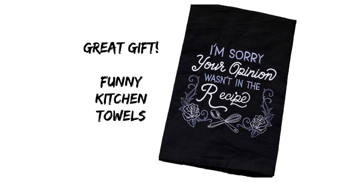 Funny Dish Towel.  These Embroidered Make Great Gifts At An Affordable Price.  Heirloom quality.   #christmas  #pottiteam