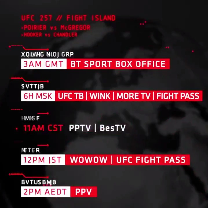 The ENTIRE 🌍 is going to be watching #UFC257 tomorrow!  Where are you tuning in from?  #InAbuDhabi @VisitAbuDhabi https://t.co/OnVC5pBQMK