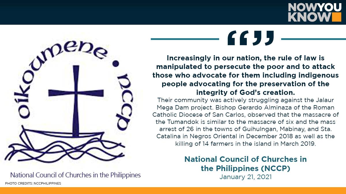 The National Council of Churches in the Philippines (NCCP) has called for a stop to human rights violations against indigenous people. READ: bit.ly/35XF5qf 📰 Manila Bulletin