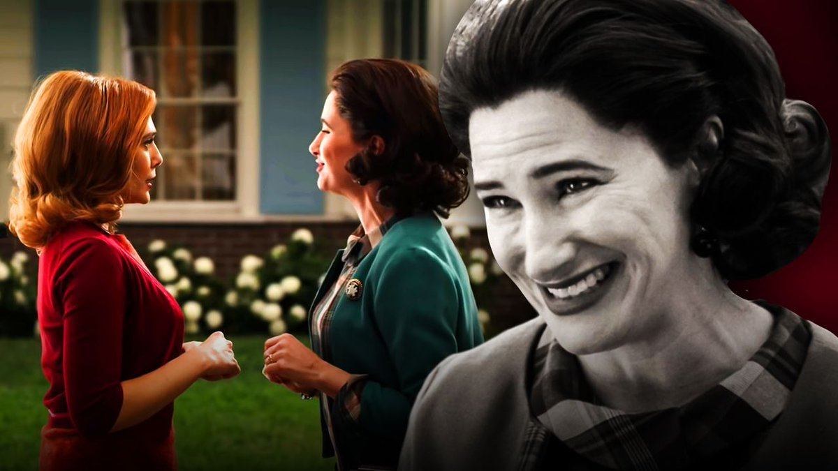 """Actress #KathrynHahn has further teased her #WandaVision nosy neighbor, saying she """"can't let (fans) know what's going on in Agnes' private life!"""" Full quote:"""