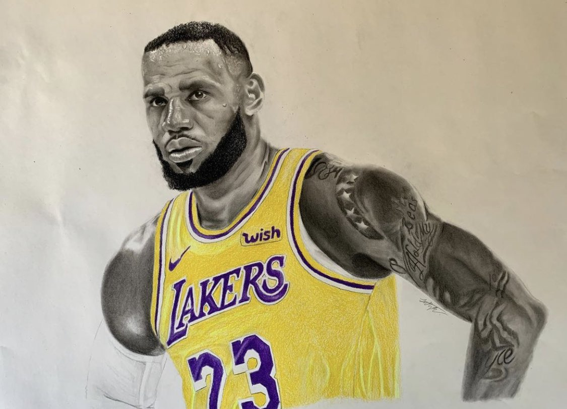 @KingJames Yooo would be so awesome if you saw this 🙌🏽 great win #Lakeshow 😤