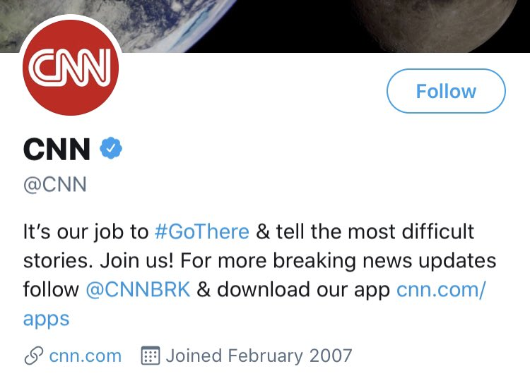 """The irony. It's @CNN's job to, #GoThere & """"tell the most difficult stories""""  Unreal."""