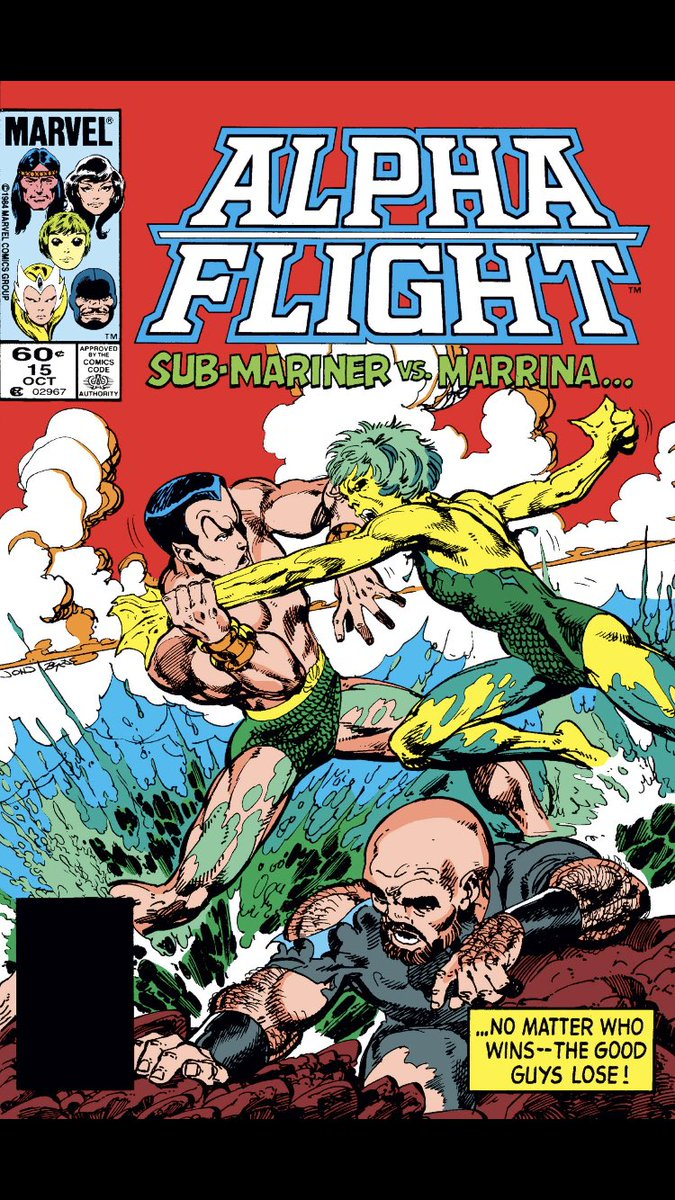 #comicbeforebed Alpha Flight No. 15, October, 1984. Snowbird reveals, Aurora has a plan, and Puck is in trouble again with Marinna! 🤭✂️😬 #AlphaFlight #MarvelComics #MarvelUnlimited #FeeltheByrne @MarvelUnlimited @Marvel
