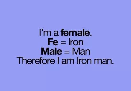 #TonyStark...I think we've found your next #IronMan 😋⬇️  #marvel #womenempowerment #girlpower