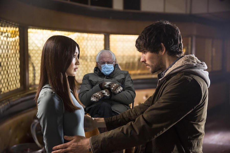 In an alternate universe, Bernie would advocate for Synth rights, don't you think? #Humans #GemmaChan #ColinMorgan