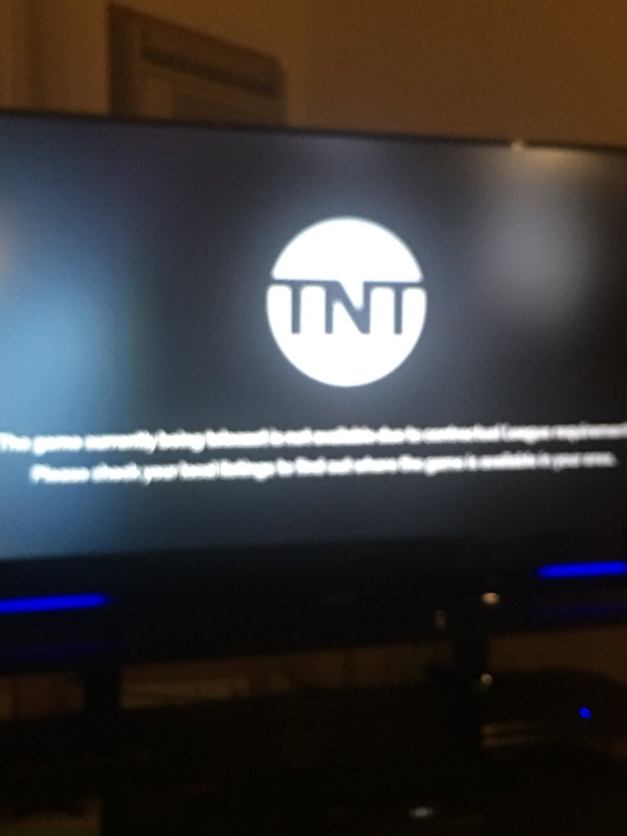 It not on TNT. #bucks