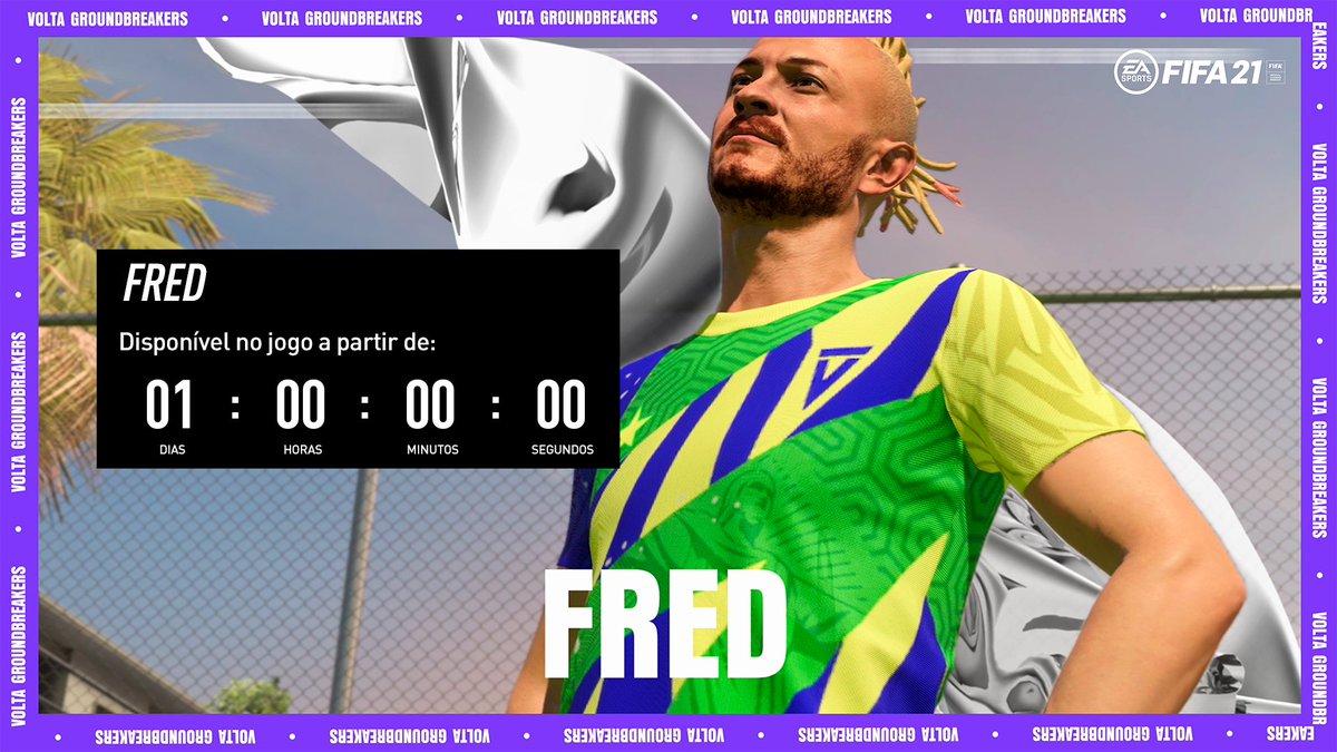 É AMANHÃ, TIME!  Amanhã teremos o @fred_b12 no modo #VOLTA do #FIFA21!  E aí, estão prontos para encarar o Fredão num futebol de rua? ⚽