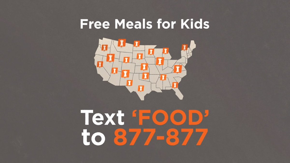 """With #NoKidHungry's Free Meals texting hotline, finding meals in your area is as easy as sending a text! 📱 Text """"Food"""" or """"Comida"""" to 877-877 to find meals sites in your community."""