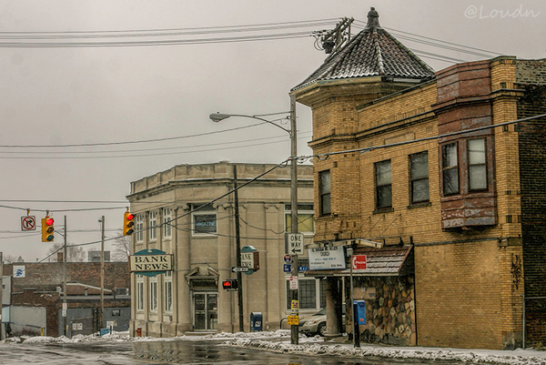 Bank News January 20 2011    #cleveland #clarkfulton #snow #streetphotography #tbt #tenyearsafter #january2011