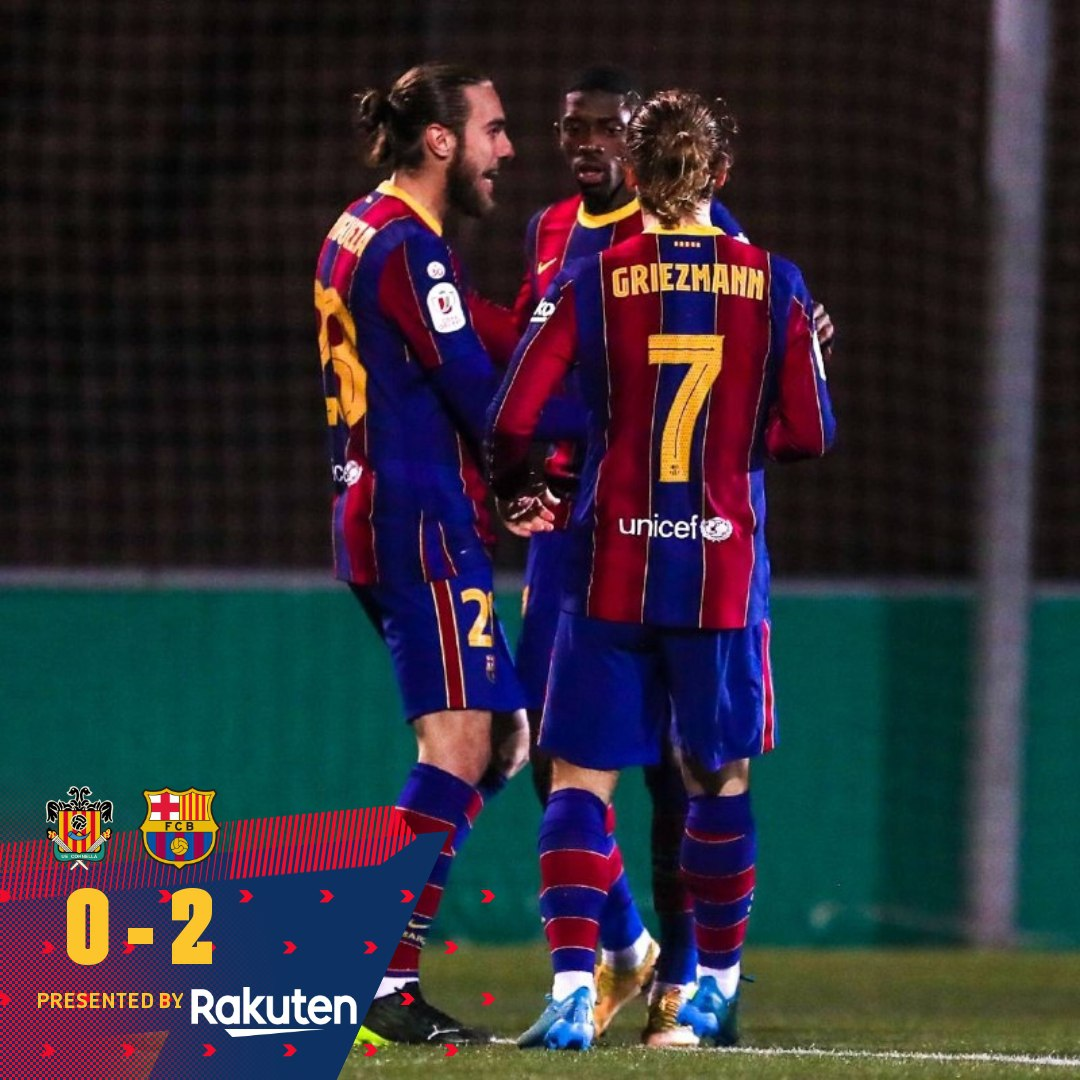FT : Cornella 0-2 FC Barcelona Goal : Dembele & Braithwaite Alhamdulillah Barca berhasil lolos kebabak selanjutnya CDR, setelah mengalahkan Cornella dibabak Extra Time. Kiper Cornella bermain luar biasa pada laga kali ini . Bagaimana menurut kalian les?  #ForcaBarca #Indobarca