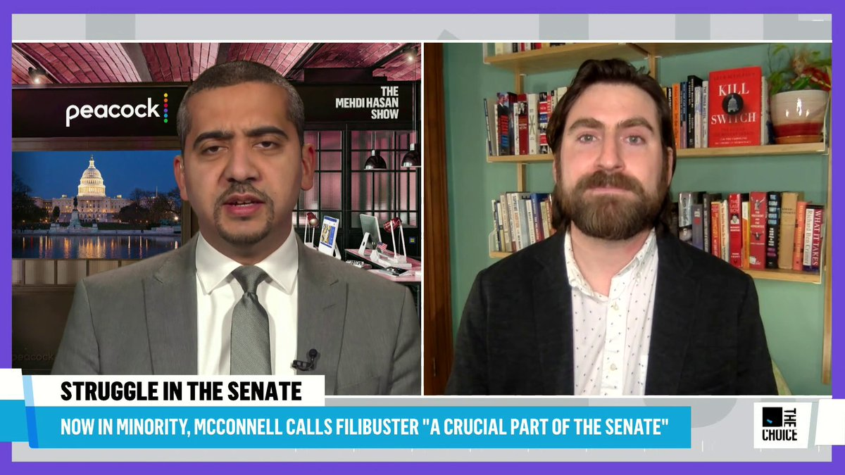 "Replying to @MehdiHasanShow: Mehdi: ""Does the filibuster get nuked in 2021?""  @AJentleson: ""Yes."""