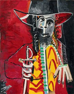 """HAPPY HOUR TOMORROW : D  it's Friday Night and time for some fun & creativity.. let's get twisted with this funky rendition of """"hombre' by Picasso ! 5-6:30p  Sign up @   #happyhour #fridaynight #weekendvibes #paintingclass #zoomclass #arty #shoplocal"""