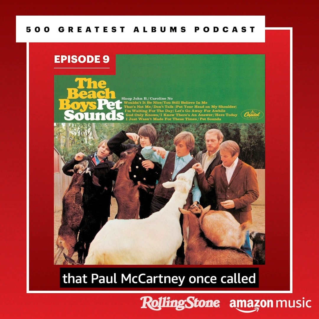 ".@BrianWilsonLive of @TheBeachBoys speaks to their hit album, ""Pet Sounds"" — including a track @PaulMcCartney calls ""the greatest song of all time."" It's all pretty spiritual…  Listen to the @RollingStone 500 Greatest Albums podcast. Only on Amazon Music:"
