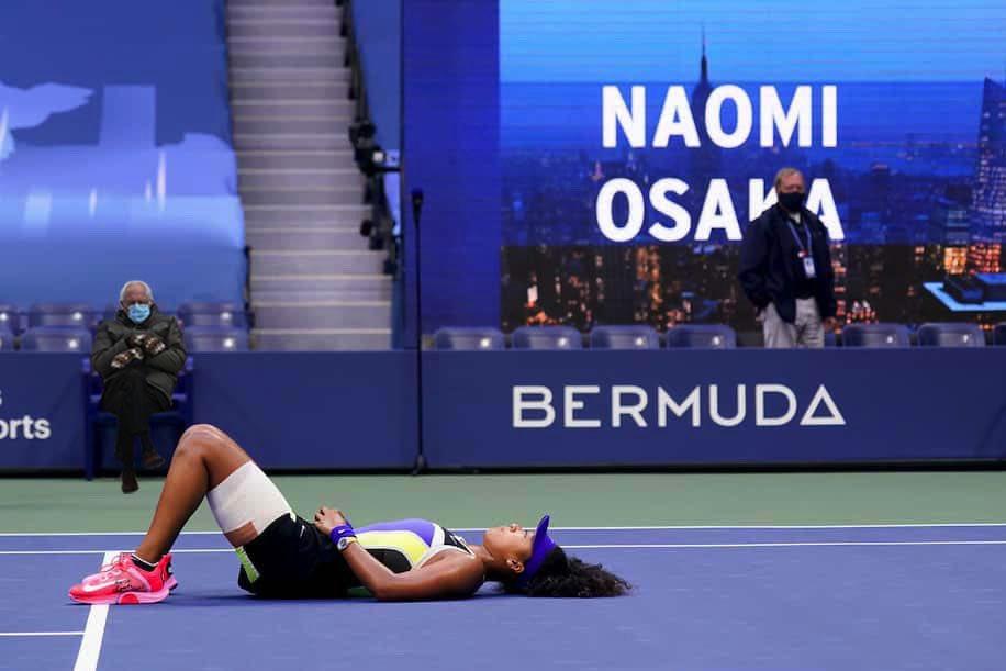 The @usopen #Tennis Championships 2020 was special! #BernieSanders was there! @naomiosaka #USOpen #Bernie #meme #berniesmittens #NYC #USOpen @nycfeelings @nycgo @TimeOutNewYork @FallonTonight @JimmyKimmelLive @jimmyfallon @espn @TennisChannel @nypost