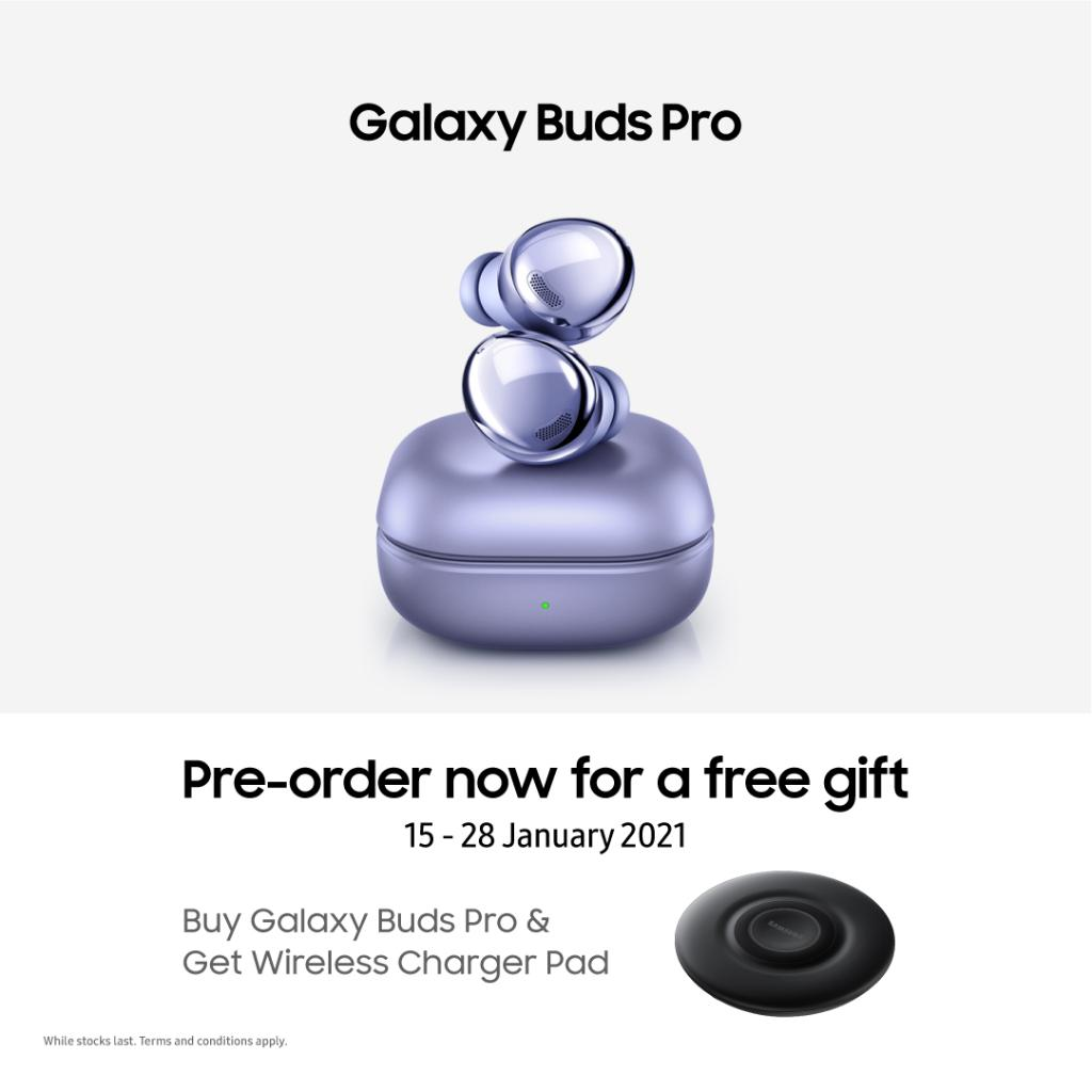 Upgrade the sounds you hear with #GalaxyBudsPro. Pre-order & get a Wireless Charger Pad worth RM239. Limited units available.  Learn more: