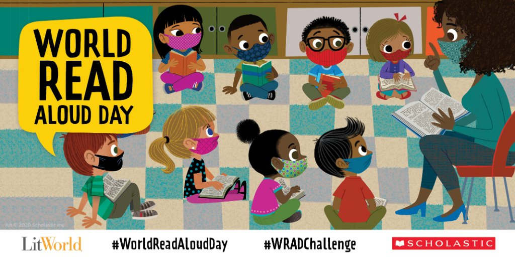 Calling all parents and teachers! Sign up for our free #WorldReadAloudDay resources, activities, and our WRAD VirtualKit: bit.ly/2Kz7njp
