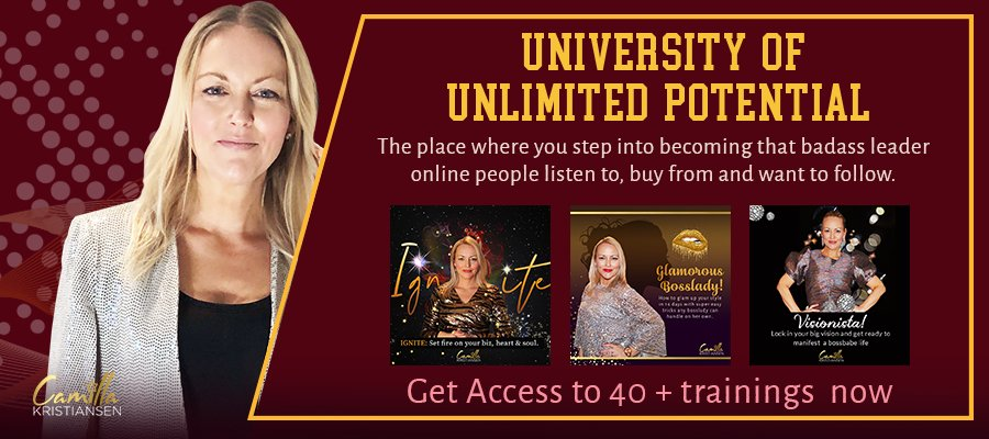 Welcome to University of Unlimited Potential! The place where you step into becoming that badass leader online people listen to, buy from and want to follow.  #bossbabe #leader #success