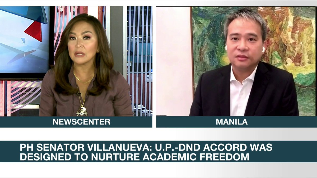 """Why don't we focus on the West Philippine Sea?""  Sen. Joel Villanueva is hoping the government's termination of its accord with UP on the entry of state forces is not a diversionary tactic. He urged the military to just focus on other issues the country is facing."