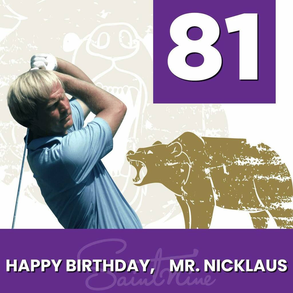What do you get when you mix a goat and a bear? Happy 81st Birthday to THE greatest of all time, Mr. Jack Nicklaus! @jacknicklaus 🐻🐐🎈 #goldenbear #goat #golf #hbd