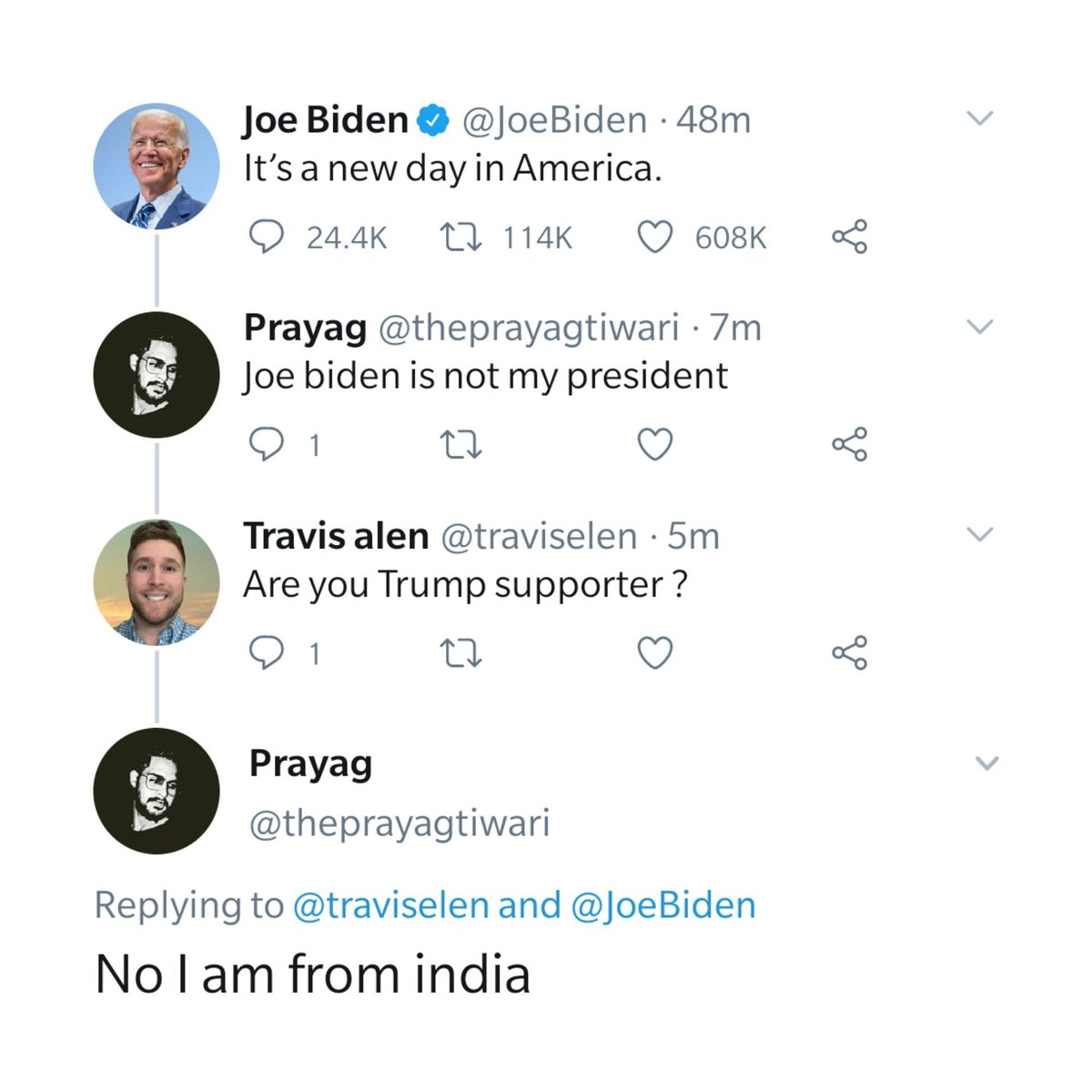 This made me laugh. Just read it. It doesn't end how you think. No one gets bashed. No one gets ridiculed. It's good to have some comic relief for a change. 😀 #trump #biden