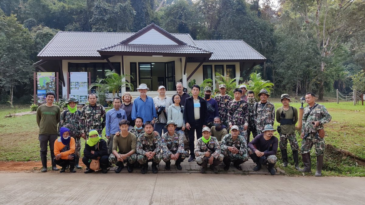 Our team ready to begin fieldwork at Khao Laem National Park #Thailand. Consisting of local park rangers, a UK Channel 4 news crew and @FREELANDglobal staff. Everyone doing their part to conserve #nature in this incredible #rainforest. #PhD #adventure #travel #research https://t.co/FbxLRTYaY7