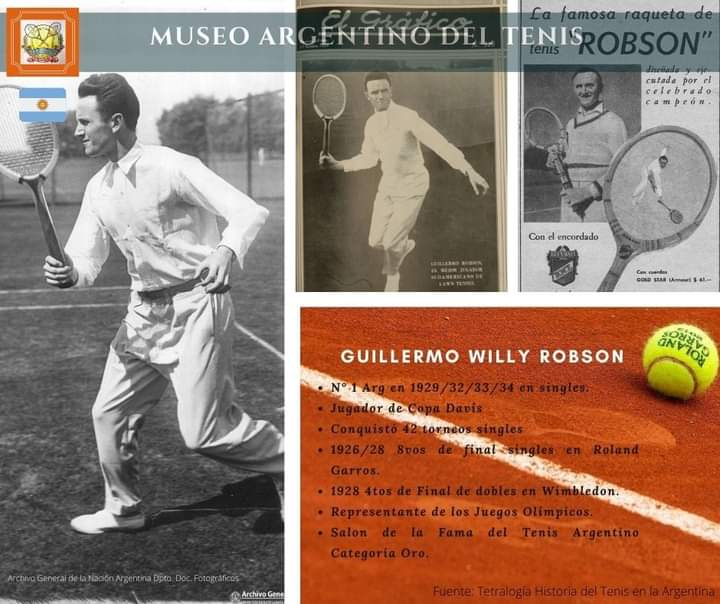 "Guillermo ""Willy"" Robson. #tenisargentino #museoargentinodeltenis #tennishistory #tennis #vintagetennis #tennisplayer #Robson #MuseoVirtual #tenis #Argentina"