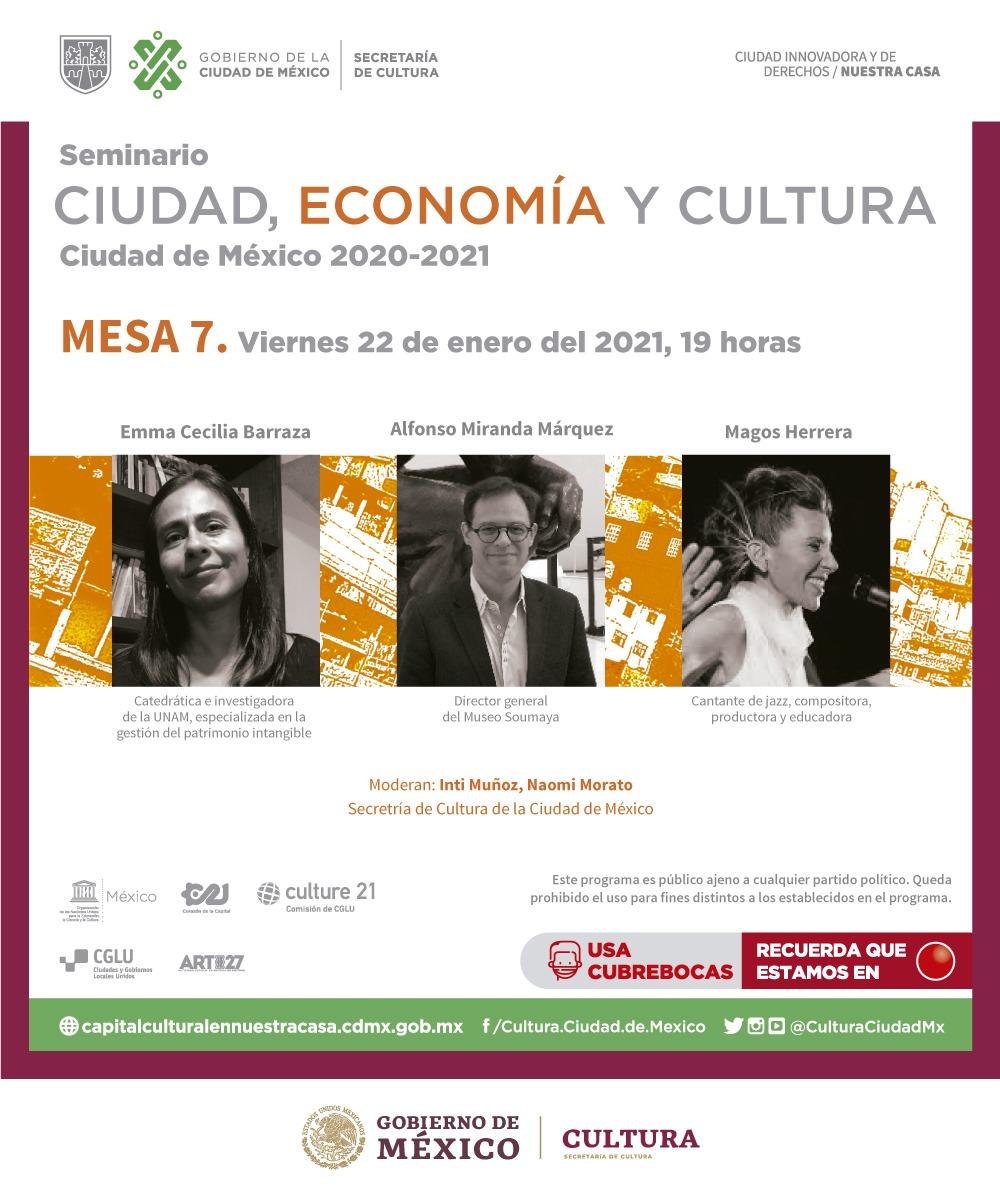 """Un honor haber participado en la Mesa 7 del Seminario """"Ciudad, Economía y Cultura"""" con Emma Cecilia Barraza y @magosherrera, moderada por el querido @IntiMunoz.  22 de enero, 19h.  ¿Nos acompañan? #CapitalIberoamericanaDeLasCulturas"""