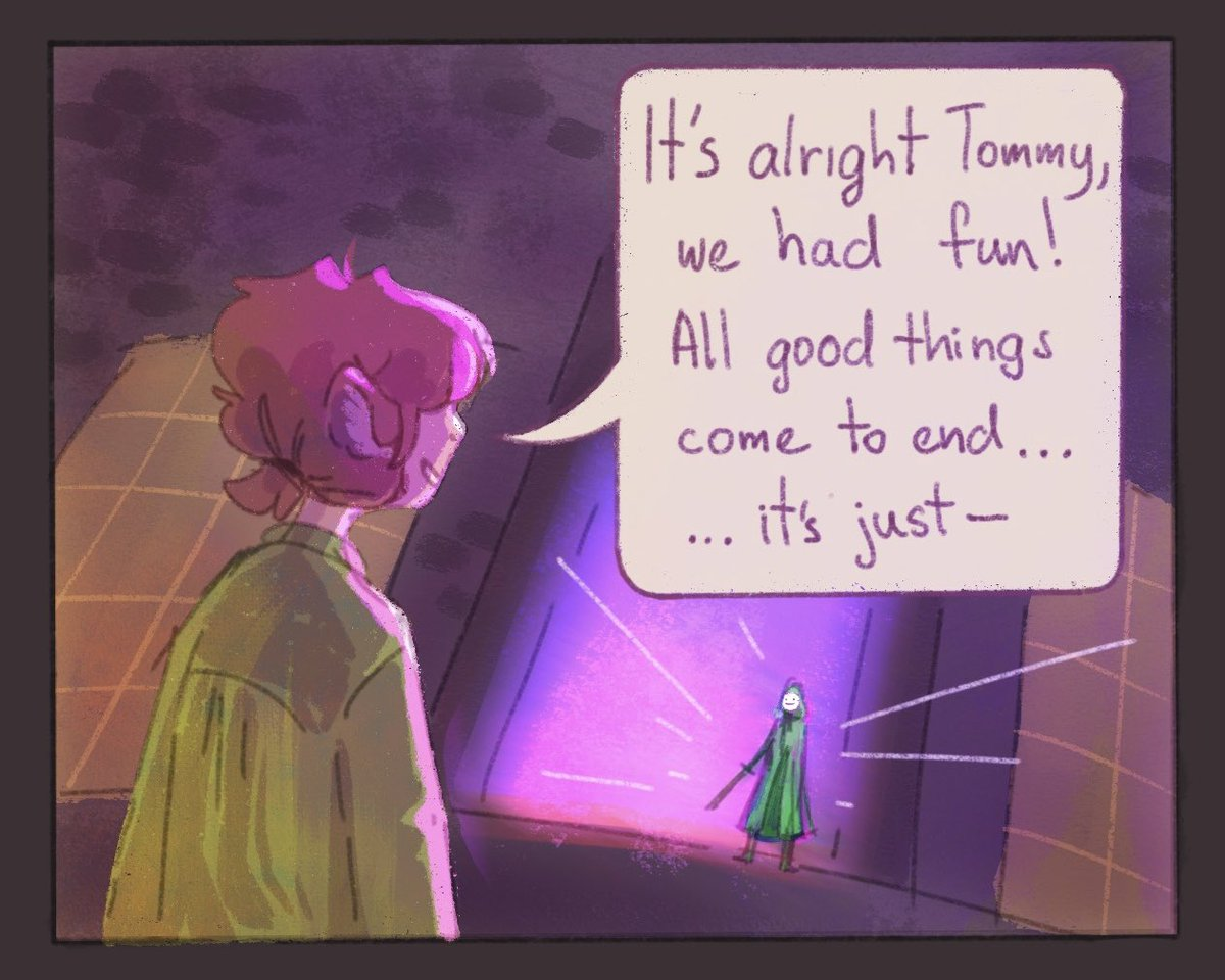 [Dream smp] This moment hit me hard kay and because it hurt me i made a lil comic of it qwq Honestly that whole stream was an emotional rollercoaster... These people are seriously good actors!! Drink water! U need it! #dreamsmpfanart #dsmpfanart #tubbofanart #tommyinnitfanart