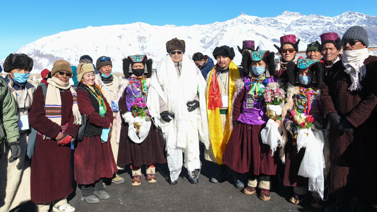 With temperature at minus -20°C at day-time and -32°C at night it is chilling but the ambience and the spirit of people are making the Khelo India Winter Sports Festival at Zanskar a colorful and memorable. The beauty of Zanskar is mesmerizing!