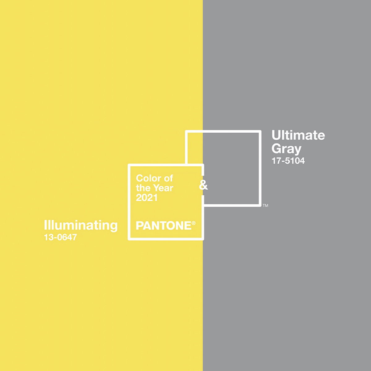 """#ThursdayThought: Pantone has named """"Illuminating"""" and """"Ultimate Gray"""" as their colours of the year! Will you be incorporating either of these colours in your interiors this year? Share your thoughts below!  #ColouroftheYear #Pantone2021"""