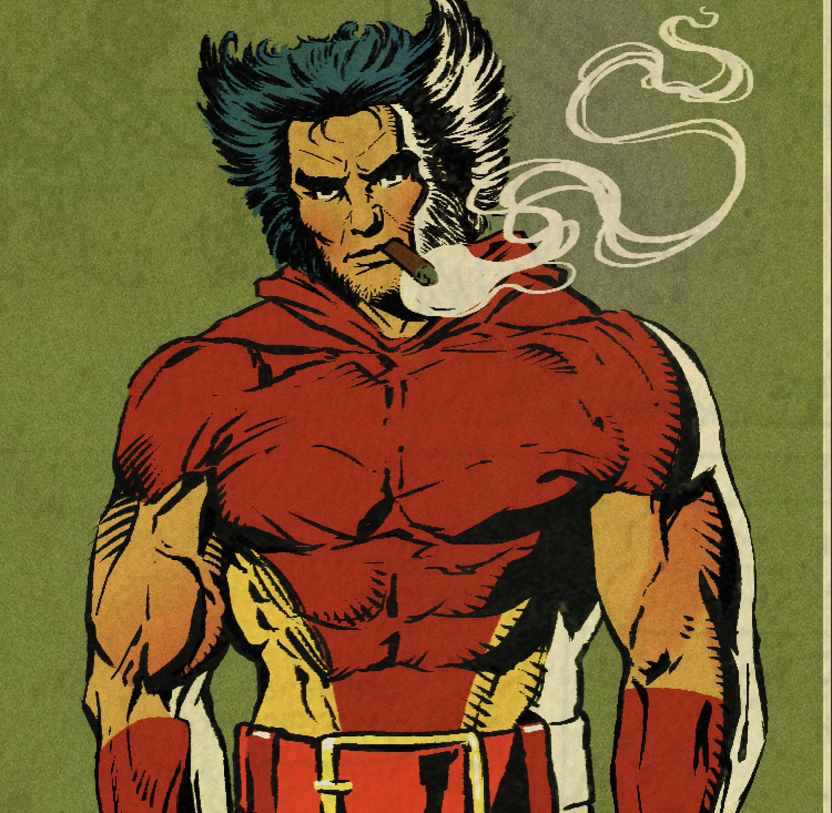 Tried out some new digital pens. Remember when Wolverine could smoke in the comics? #wolverine #Logan #marvel #Xmen #mutant #weaponx #comics #illustration #cigar #smoke #sketch
