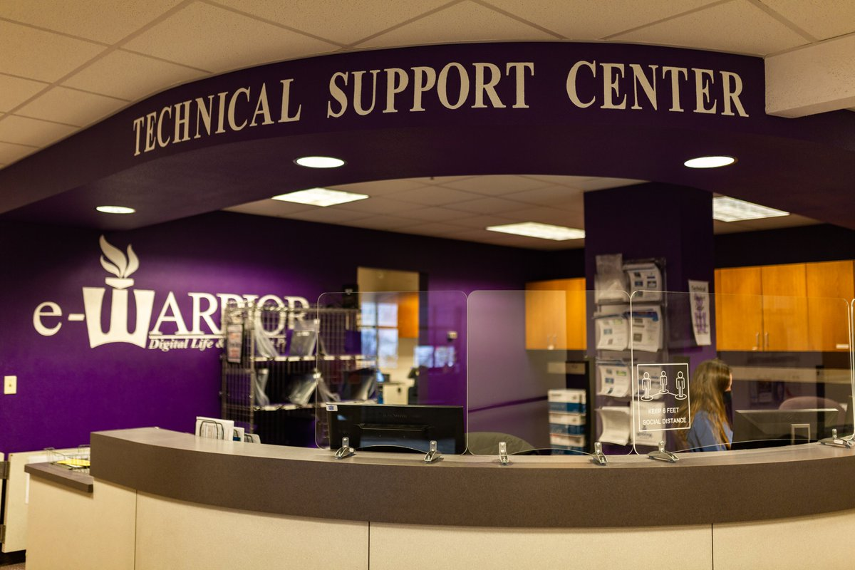 WSU has long been known as a tech-rich campus. We appreciate our technology teams now more than ever. 💻 Help us give a shoutout to our Tech #Warriors! 💜 #ThankfulThursday  👉 Learn about WSU's eWarrior program: