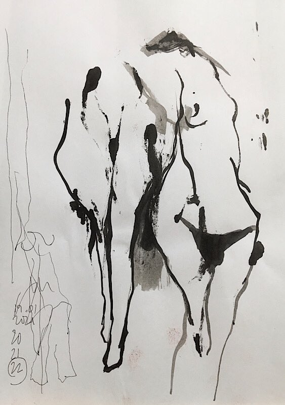 Study... 2021 #brunovaratojo #art #artcore #artist #contemporaryart #contemporaryartist #abstract #expressionism #figurative #surrealism #love #feelings #modernart #artwork #fineart #artcall #painting #drawing #being #form #figure #body #passion #saatchiart #saatchiartist