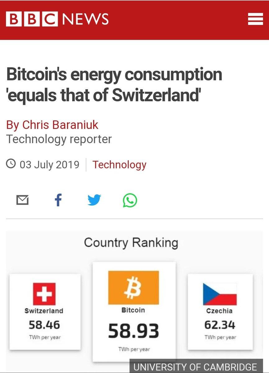 Bitcoin Energy consumption killing people, animals and plants shame on you to keep silent @UNFCCC @UNFCCCwebcast @Momentum_UNFCCC #ClimateCrisis #ClimateAction #ClimateEmergency #Bitcoin