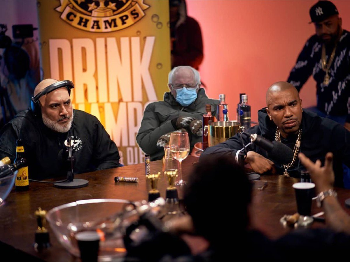 Replying to @djEFN: Bernie dropped Gems the whole episode!!!!!!! 💎🏆 #drinkchamps 📸: @juice954