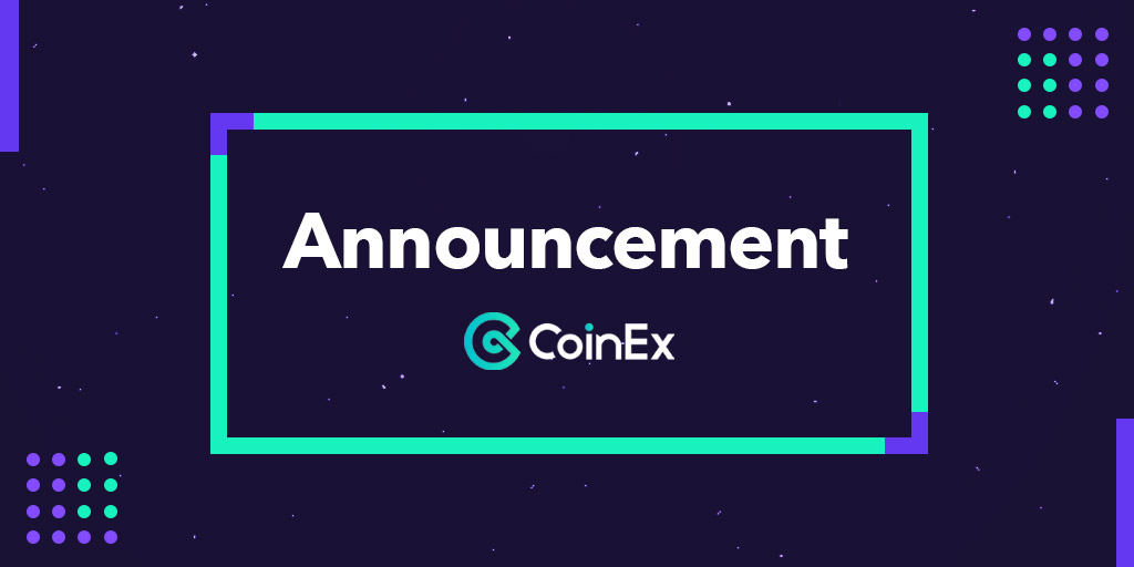 Tweet by @coinexcom