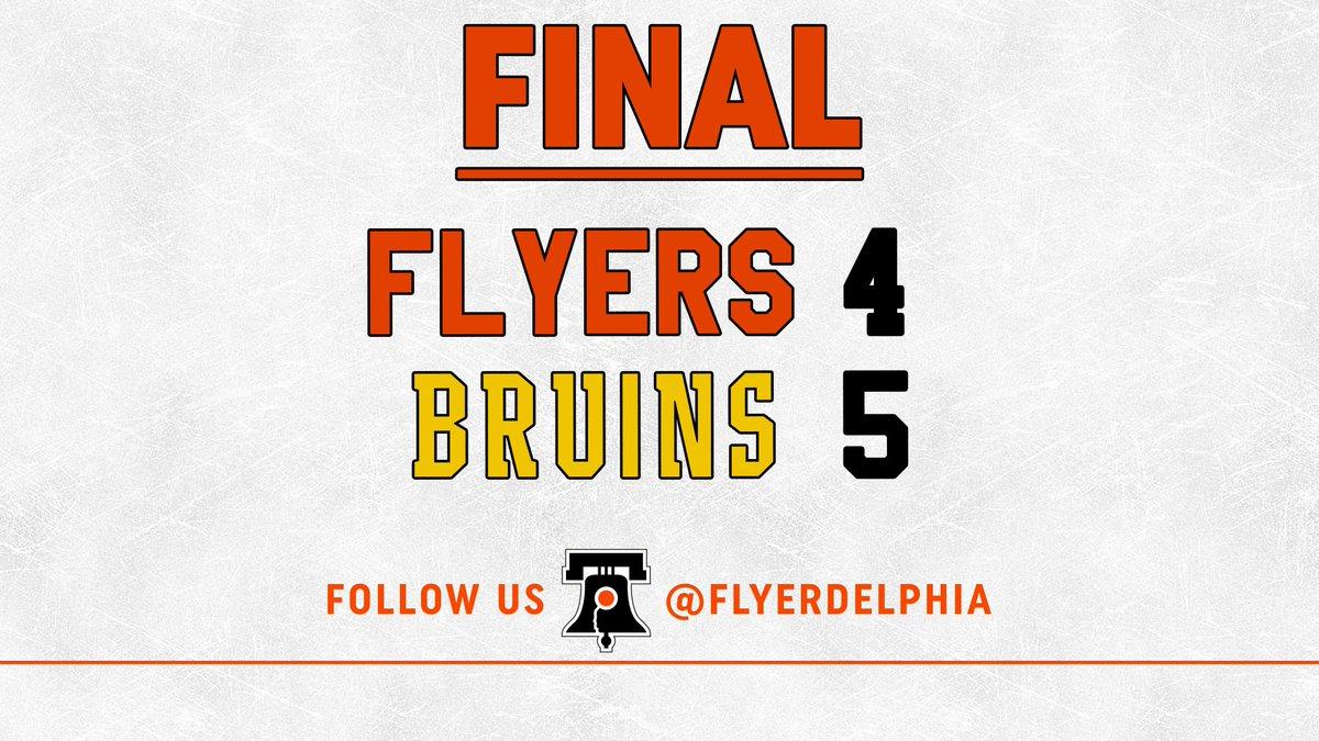 Round 3: BOS: DeBrusk scores. PHI: Giroux stopped by Rask. #Bruins win, 5-4. #FlyersTalk