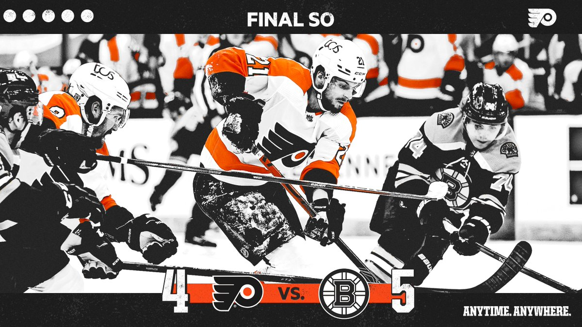 Replying to @NHLFlyers: We'll take one point in a wild finish from Boston.   #AnytimeAnywhere | #PHIvsBOS