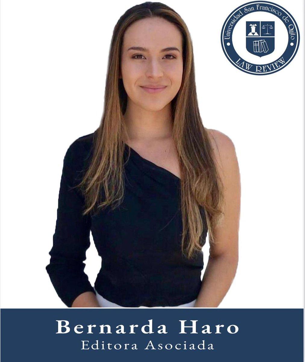 Bernarda Haro Editora Asociada Octavo semestre  Colegio de Jurisprudencia  Universidad San Francisco de Quito https://t.co/Q3wKwuKp0L