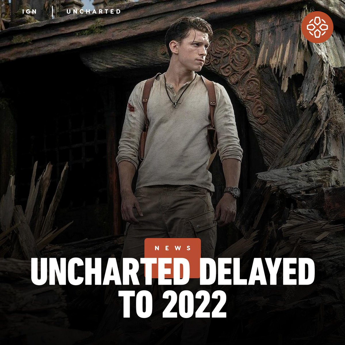 Replying to @IGN: The Uncharted movie has been pushed back from July 16, 2021 to February 11, 2022.