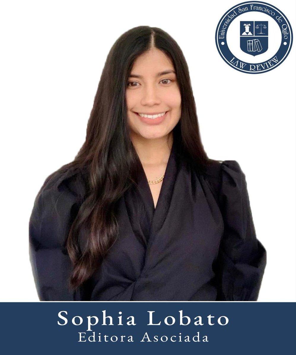 Sophia Lobato Editora Asociada Octavo semestre Colegio de Jurisprudencia  Universidad San Francisco de Quito https://t.co/IOkXRIcpxr