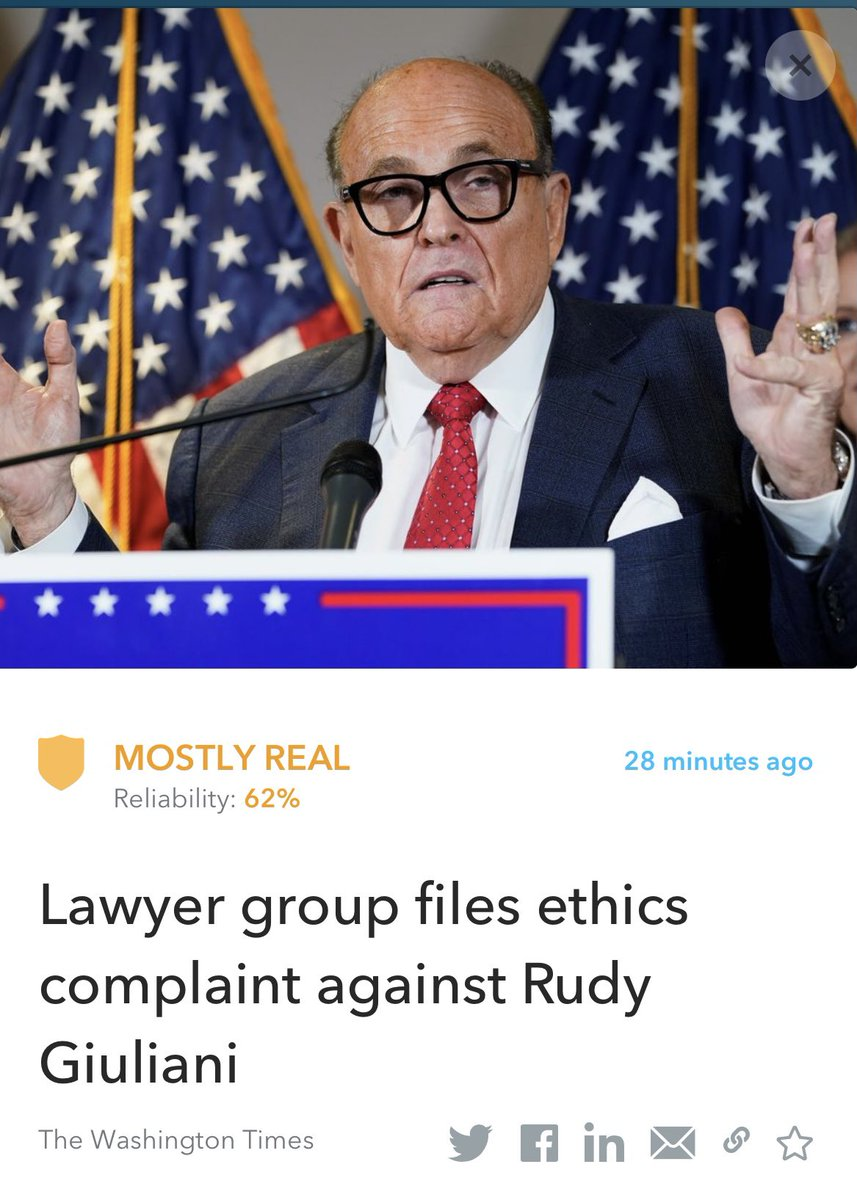 A lawyers' group filed an ethics complaint against Rudy Giuliani, to be investigated and his law license suspended over his work promoting Trump's false election allegations.  Read More:   #RudyGiuliani #news   This article was fact checked by Oigetit ✅