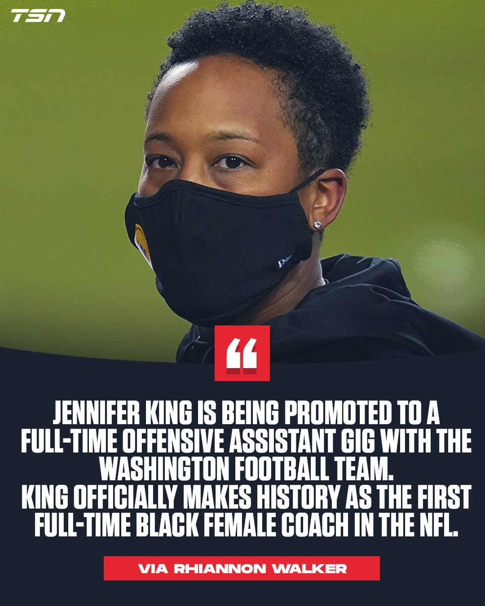 Jennifer King has officially become the first Black woman to coach full-time in NFL history.