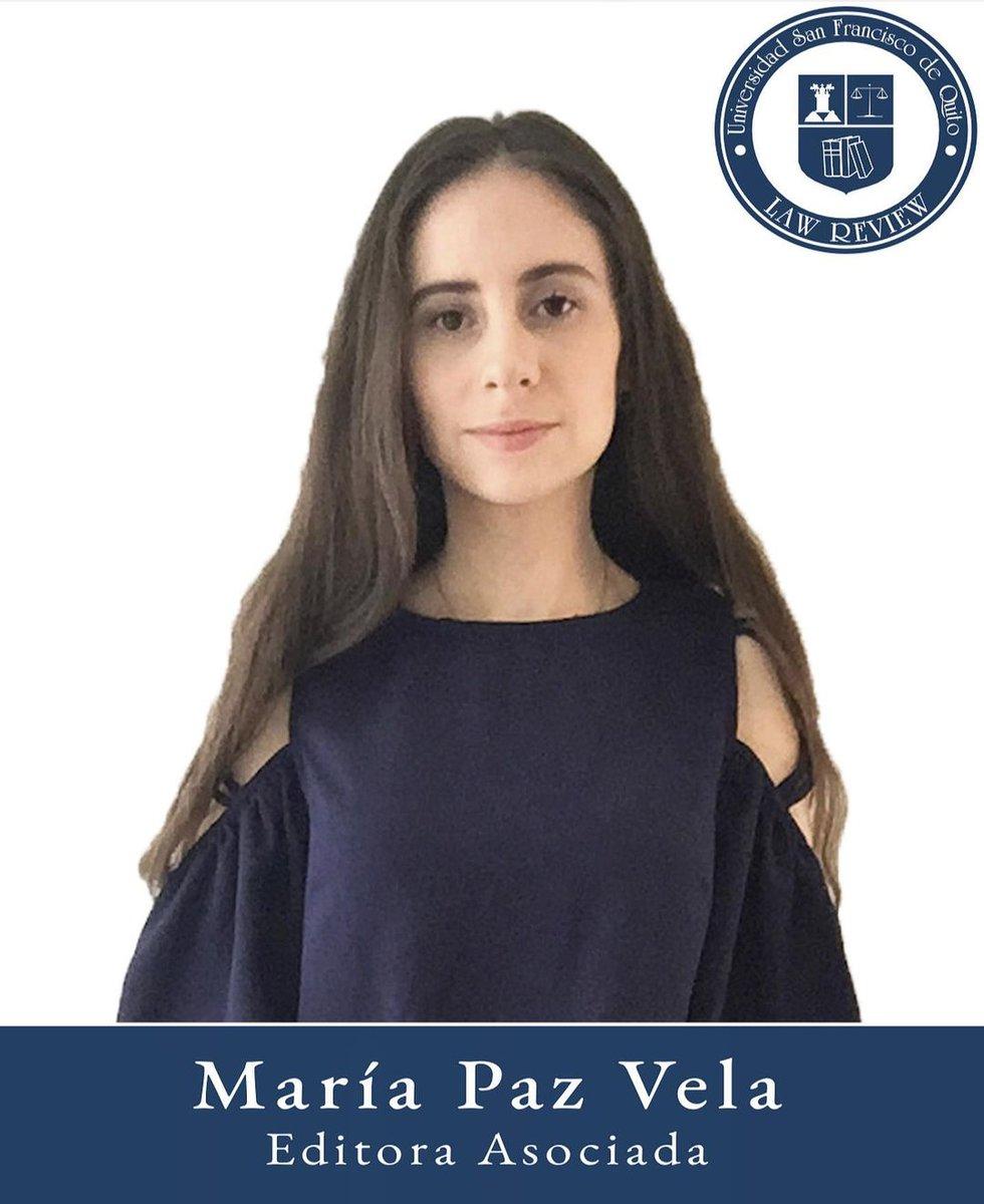 María Paz Vela  Editora Asociada Octavo semestre  Colegio de Jurisprudencia  Universidad San Francisco de Quito https://t.co/gZmwOpmNB5