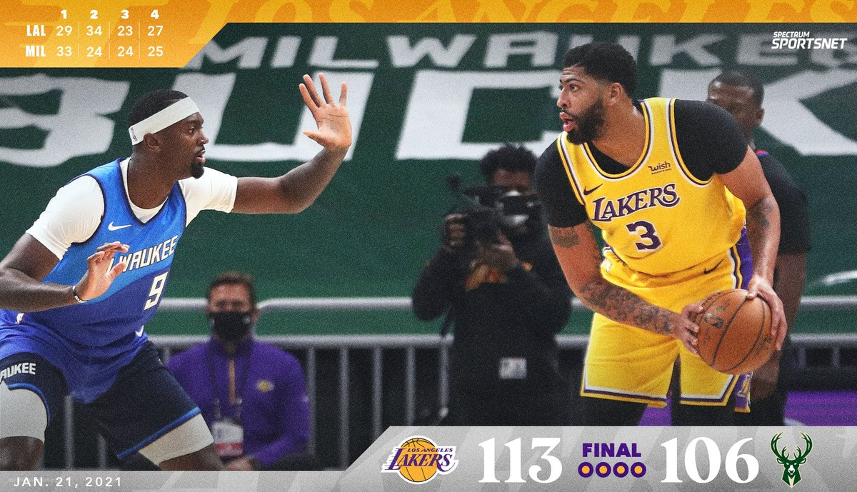 #Lakers remain perfect on the road. ✅