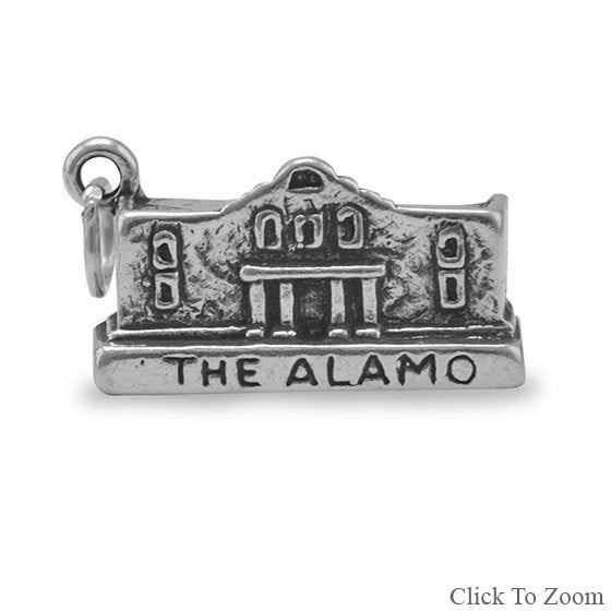 Sterling Silver Charm of The Alamo, Texas Alamo, National Park Charm, Davey Crocket, San Antonio, Historic, Sam Houston https://t.co/y6EuKWoIVd #jewelrymandave #Etsy #TheAlamo https://t.co/MKxXoAk6nK
