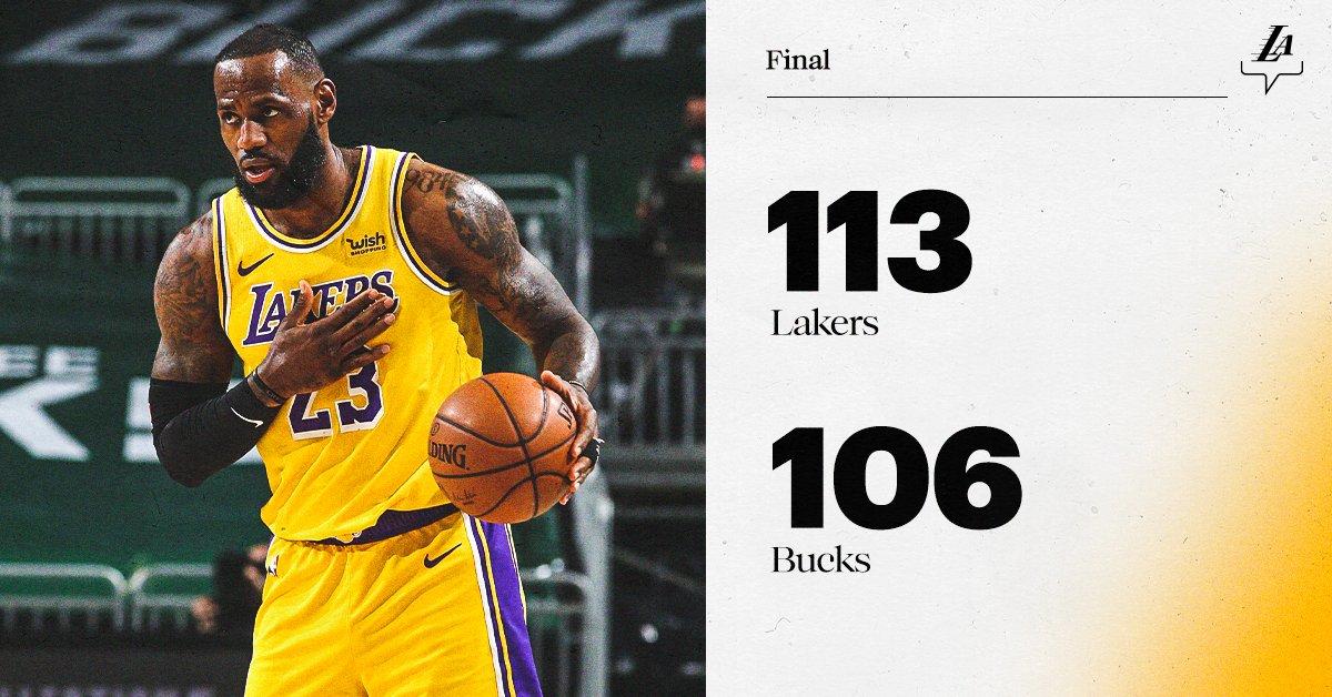 Heavyweight battle. Big-time W. #LakersWin