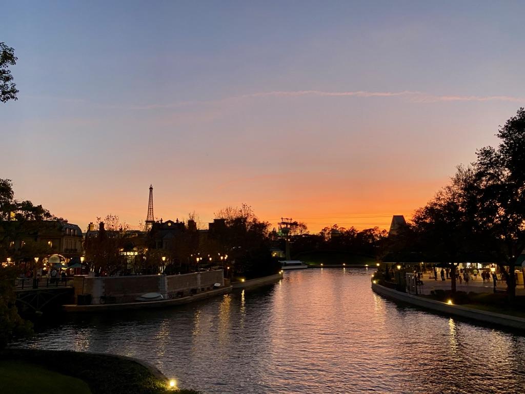 Sunset was amazing tonight #epcot