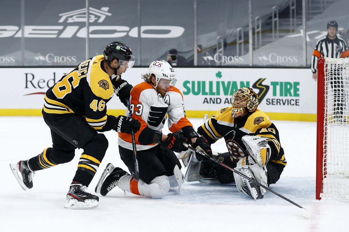 The #Flyers lost a 2-0 lead and 3-2 lead in the third, as the #Bruins rallied back and claimed Thursday night's game in a shootout.  RECAP:   #FlyersTalk #AnytimeAnywhere @973espn